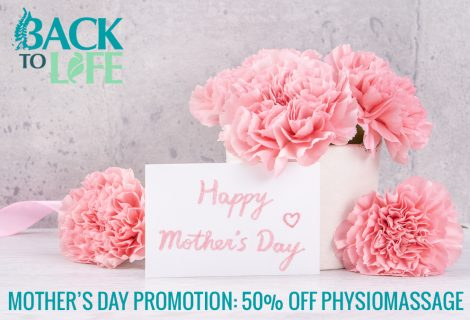 Mother's Day Promotion: 50% off PhysioMassage